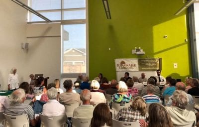 photo of attendees at sustainable cobourg all candidates meeting